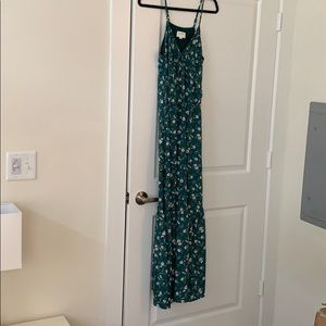 Vici Collection Green Floral Maxi Dress